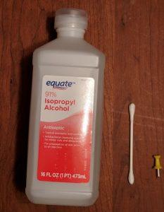 isopropyl alcohol q-tip to fix google pixel xl